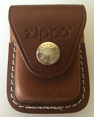 $10.67 • Buy Zippo Brown Leather Lighter Pouch With Clip, Item LPCB, New In Box