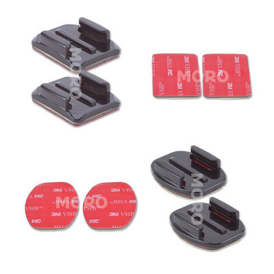 AU7.27 • Buy 4 Pcs Flat Curved Adhesive Mount Helmet Accessories For Gopro Hero 7/2/3 /3+/6/5