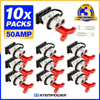 AU29.95 • Buy 10x Anderson Style Plug Connectors 50 AMP T Handle Dust Cap Cover Solar