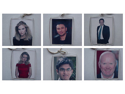 Eastenders Characters, Photo Keyring / Bag Tag, Clear Plastic, • 1.70£