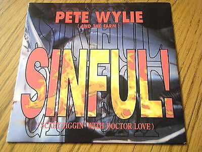 Pete Wylie & The Farm - Sinful (scary Jiggin' With Doctor Love)  7  Vinyl Ps • 3.99£