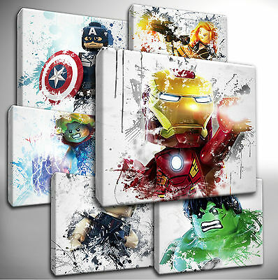 £8.99 • Buy Choose Your LEGO Marvel AVENGERS Canvas Wall Art Picture Prints - Hand Stretched