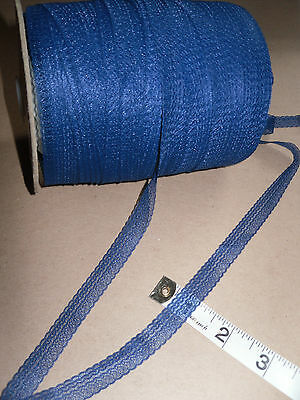 ROLL 250mts TRIM LACE 1/2 Inch NAVY NYLON LACE CRAFTS- CARDS  -TRIMMING- SEWING • 6.49£