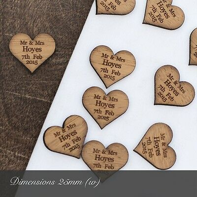 Rustic Charm - SAMPLE PACK - Wooden Or Acrylic Wedding Decorations And Favours. • 1.99£