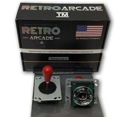 $9.95 • Buy RetroArcade.us Competition Style Arcade Joystick RED Top 4 Or 8 Way Switchable