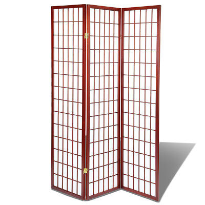 $59.99 • Buy Shoji Screen Room Divider/Privacy Wall With Rice Paper Screen Cherry, 3 Panel
