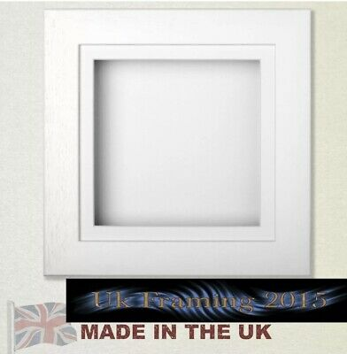 £18 • Buy 3d Box Picture Frame Textured White 30mm Deep Box Flowers Baby Casts Medals