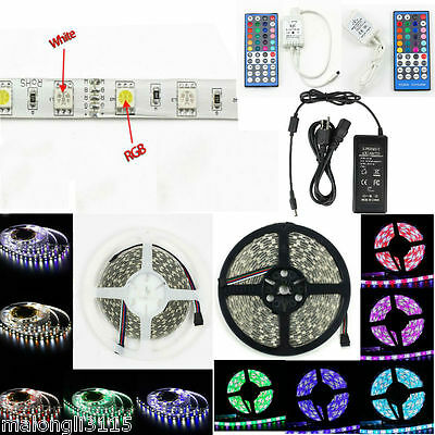 SUPERNIGHT 300Leds 5050 SMD RGBW / RGBWW LED Strip Light/Controller/Power Supply • 6.57$