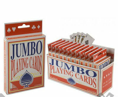 Jumbo Playing Cards Deck Extra Large Cards Playing Cards Pack Of 52 New • 2.20£