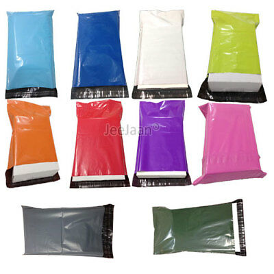 Coloured Polythene Plastic Mailing Postal Packaging Bags  Mix Self Seal Strip • 2.67£