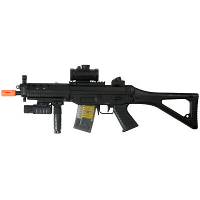 $74.95 • Buy DOUBLE EAGLE ELECTRIC FULL AUTO AEG AIRSOFT RIFLE GUN + RED DOT SCOPE 6mm BB BBs