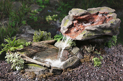 Stone Rock Effect Water Feature Fountain Cascade Waterfall Pool Pond Garden • 477.99£