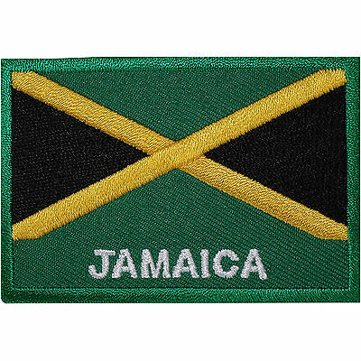 Jamaica Flag Embroidered Iron / Sew On Patch Jamaican Rasta Shirt Hat Bag Badge • 2.79£