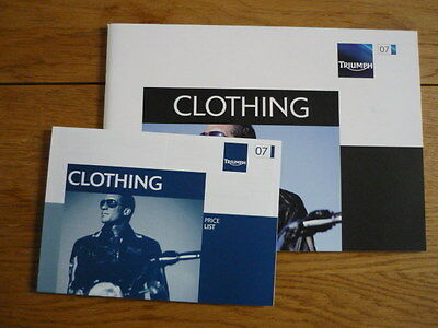 TRIUMPH CLOTHING RANGE MOTORCYCLE BROCHURE Jm • 6.99£