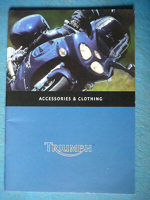 TRIUMPH 2001 CLOTHING AND ACCESSORIES RANGE MOTORCYCLE BROCHURE Jm • 6.99£