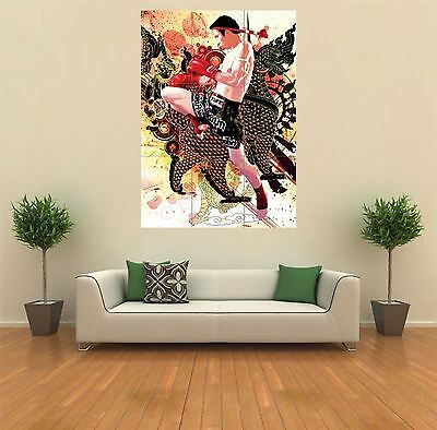Tuff Kickboxing Muay Thai New Giant Poster Wall Art Print Picture G206 • 14.99£