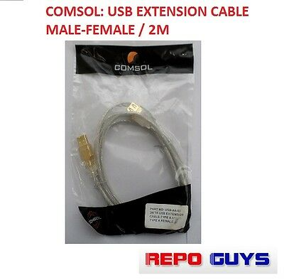 AU14.99 • Buy Comsol: USB Extension Cable Male To Female / 2M: BRAND NEW