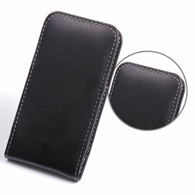 AU25 • Buy Pdair Hand Made Soft Leather Vertical Pouch Case Cover For HTC One Mini - Black