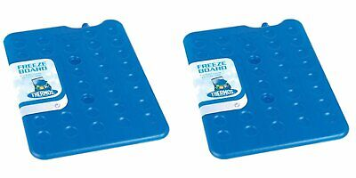2 X Thermos Freeze Board Ice Pack Block 200g For Cool Bag Chill Box Cooler • 5.99£