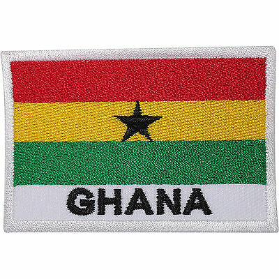 Ghana Flag Embroidered Sew On Patch Africa Rasta Reggae T Shirt Embroidery Badge • 2.79£