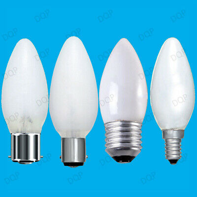 6x Opal Candle Dimmable Standard Light Bulbs 25W 40W 60W BC ES SBC SES Lamps • 8.48£