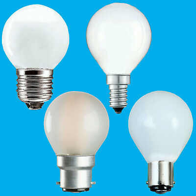 6x Opal Golf Round Dimmable Standard Light Bulbs 25W 40W 60W BC ES SBC SES Lamps • 8.98£