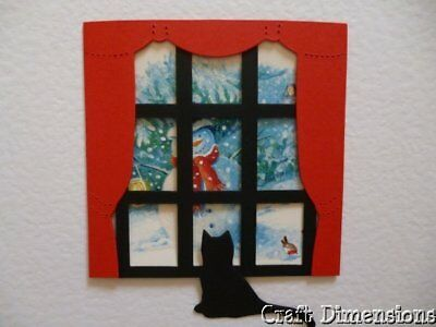 £2.25 • Buy Looking Through The Window Die Cut Frames For Christmas / Birthday Card Toppers