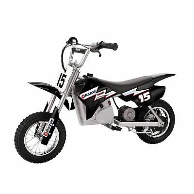 View Details Razor MX400 Dirt Rocket 24V Electric Toy Motocross Motorcycle Dirt Bike, Black • 198.99$