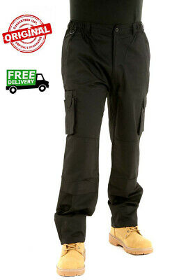NEW Mens Combat Work Trousers Size 30 To 42 CARGO With KNEE PAD POCKETS - BK06 • 15£