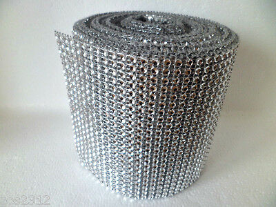 Diamante Ribbon Crystal Effect Silver Banding For Cakes Crafts Sewing* BOGOF* • 1.45£