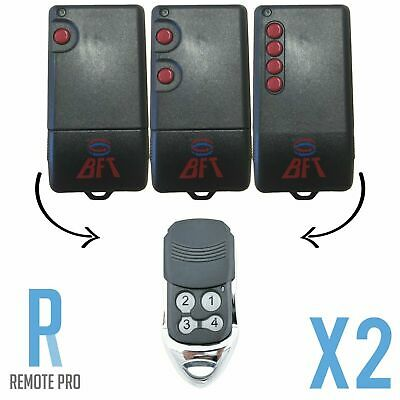 AU22.95 • Buy 2 X NEW To Suit BFT TRC/TRC1/TRC2/TRC4 Compatible Garage/Gate Remote