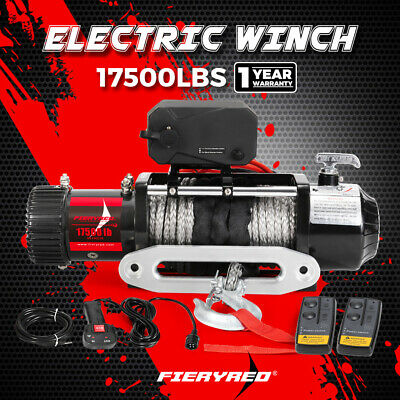 AU519.95 • Buy 17500LBS Wireless 12V Electric Winch Synthetic Rope 4WD 4x4 Recovery 12000lb