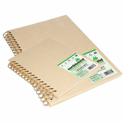 Daler Rowney Earthbound Recycled Paper Sketchbook - A4 Wirebound • 28.99£
