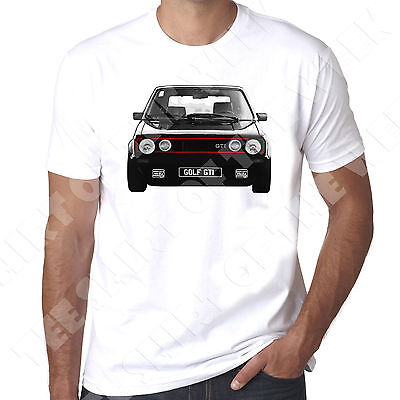 Personalised Number Plate Option Mk1 Golf Gti Mens 100% Cotton T-shirt  • 11.99£