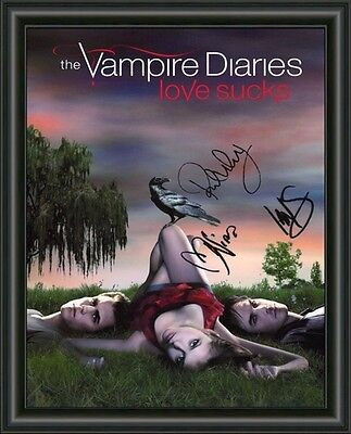 AU9.95 • Buy Vampire Diaries - Cast -  A4 Signed Autographed Photo Poster  Free Post