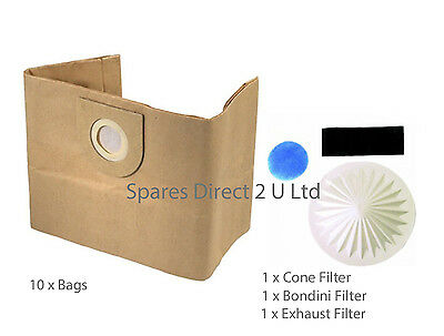 10 X Vax 6131 7131 6151SX 5120 8131 Vacuum Cleaner Hoover Dust Bags & Filter Set • 8.99£