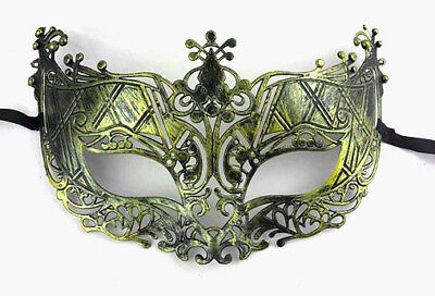 £2.15 • Buy Gold Masquerade Mask Stag Hen Party Proms Fancy Dress Masks