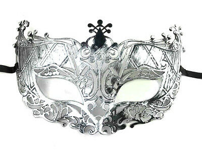 £2.45 • Buy Brushed Silver Masquerade Mask Stag Hen Party Proms Fancy Dress Masks