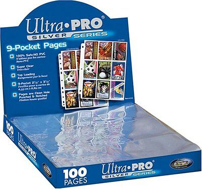 Trading Card A4 Sleeves - 10 Ultra Pro 9 Pocket Silver Pages MTGPokemon.  • 3.99£