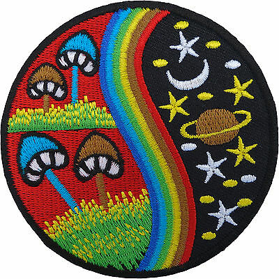 Magic Mushroom Patch Embroidered Rainbow Star Moon Planet Sew / Iron On Badge • 2.79£