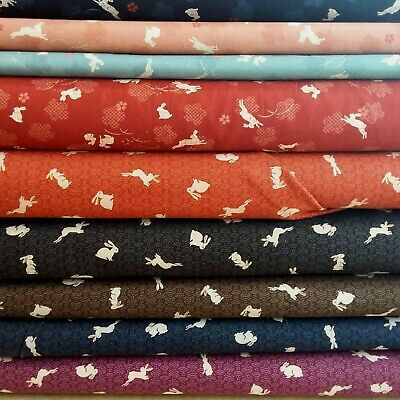Japanese Rabbit Cotton Fabric From Sevenberry Quilting, Dressmaking, 112cm Wide • 3.50£