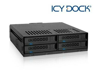 New ICY Dock ExpressCage MB324SP-B 4 Bay 2.5  SATA SAS SSD HDD Mobile Rack • 56.99£