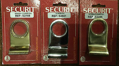£3.99 • Buy Securit Cylinder Pull - 3 Different Styles To Choose From - Georgian Victorian