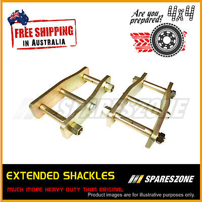 AU180 • Buy Pair Rear 2 50mm Extended Shackles For Vehicle Toyota Hilux KUN26 N70 05-on