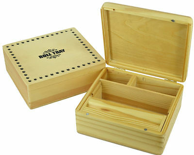 £3.99 • Buy Grassleaf Wooden Rolling Box Stash Snuff  Box Different Sizes