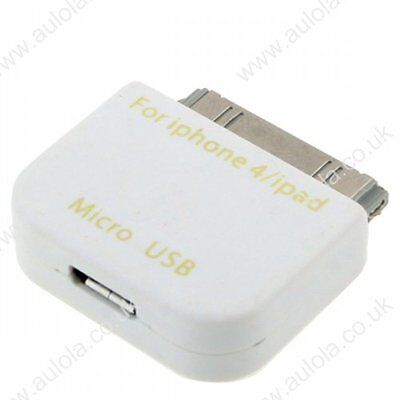 £1112.50 • Buy Micro USB Female To 30pin Male Adapter Dock For IPhone 4 4S 3G  IPod IPad White