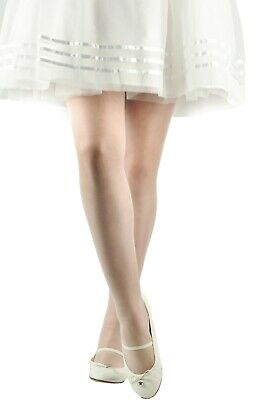 £2.99 • Buy New Girls Kids Ivory Cream Sheer Tights Bridesmaid Party Special Occasions 20Den