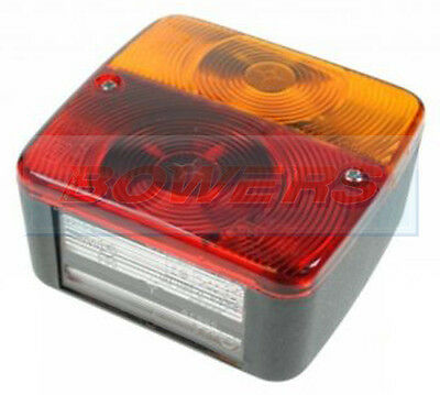 AU10.65 • Buy 12v Square Rear Combination Trailer Board Tail Lamp Light With Number Plate Lamp
