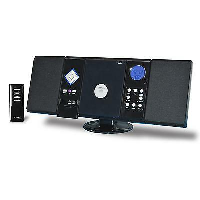 AUDIO JENSEN HOME STEREO MICRO MINI SYSTEM WALL MOUNTABLE W/ CD PLAYER & REMOTE • 64.80$