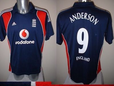 England Cricket Shirt Jersey Jimmy Anderson Adult S M L Adidas Ashes Lancashire • 39.99£